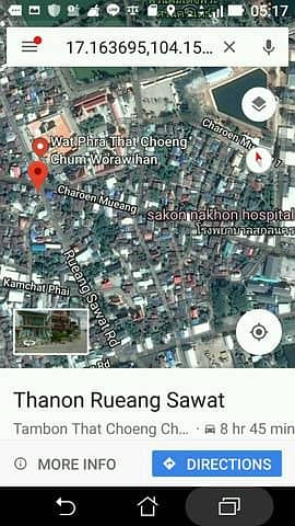 For rent dental clinic with dental chair in front of Wat Phra That Choeng Chum, near Sakon Nakhon Hospital, good location, 9500 per month Or rent in front of the store outside the building for rent 2500 per month