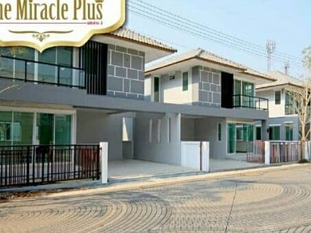 New detached house recently bought Miracle Plus Rama 2 for rent. Near Rama 2 km. 16 Call 0972517941