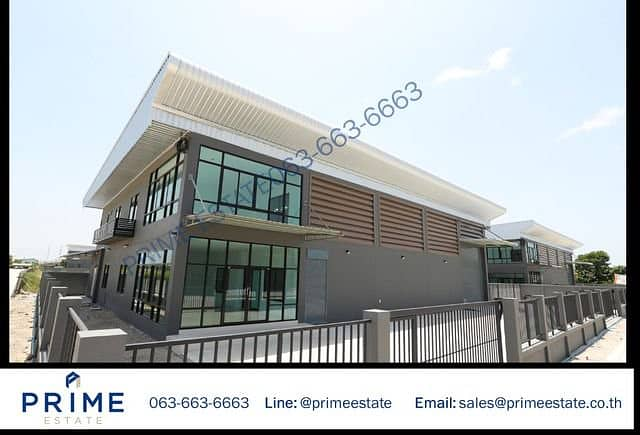 Warehouse, warehouse, factory with 2-storey office