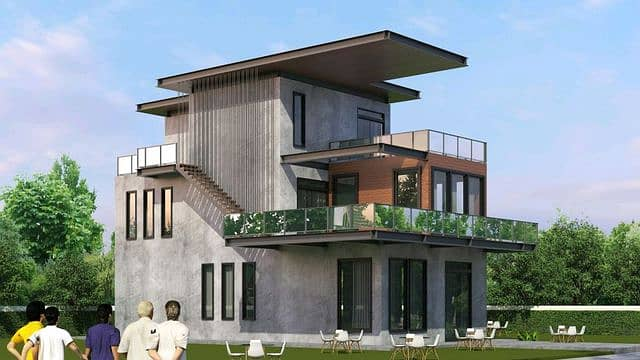 Modern 3-storey home office for sale