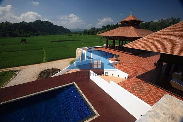 4-star luxury resort, 48-1-5 rai, on the way to Doi Mae Salong, surrounded mountains, very beautiful, worth investing in Mae Chan District, Chiang Rai