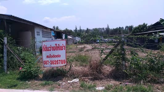 """Land for Rent in Mueang Chon Buri, Chonburi - Please read it a little bit. """"For rent"""" Land area 40 square meters long term land next to Wat Nong Ri with a road cut through the price of 3,500 baht per month."""