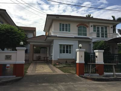 3 Bedroom Home for Rent in Thanyaburi, Pathumthani - House for rent now 2 floors, area 83 sq m, Manthana Rangsit Khlong 2 corner.