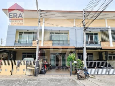 3 Bedroom Townhouse for Sale in Mueang Chon Buri, Chonburi - Quick sale! Townhouse 2 floors, Baan Suan Ville 3, area 23.5 sq. wa.