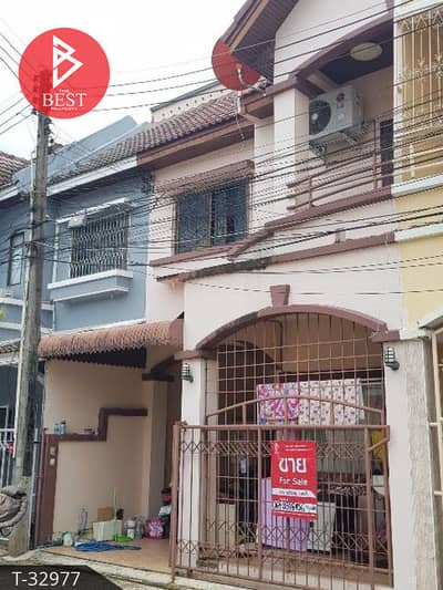 3 Bedroom Townhouse for Sale in Mueang Chanthaburi, Chanthaburi - 2 storey townhouse for sale, Hom Sawat, Chanthaburi, Chanthaburi
